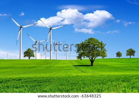 Ecology-Green Planet - stock photo