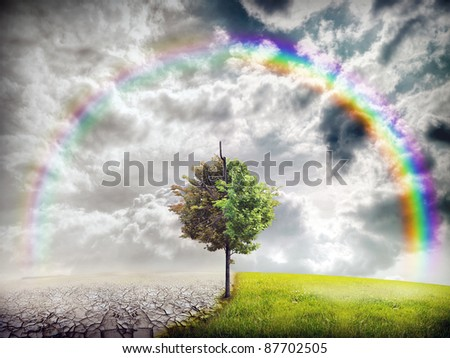 ecology landscape - stock photo