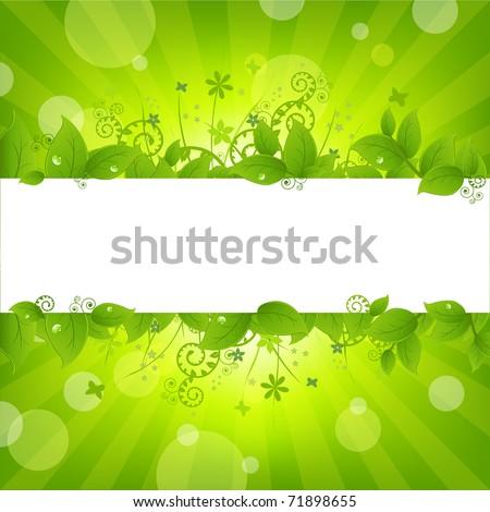 Ecology Nature Background - stock photo