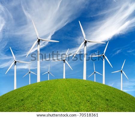 Ecology power - stock photo
