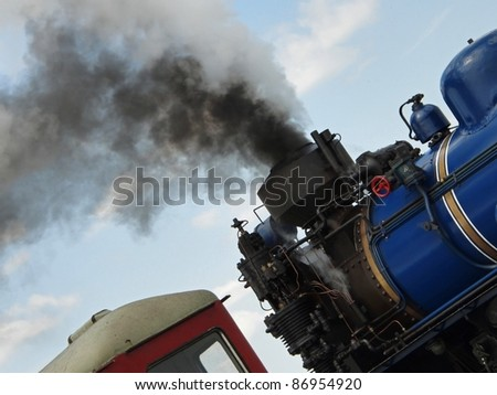 Ecology problem - lot of exhaust gases from a steam train
