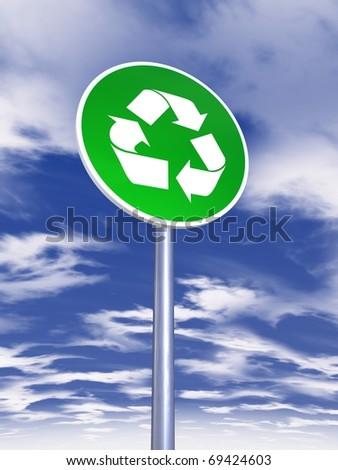 ecology sign traffic - stock photo