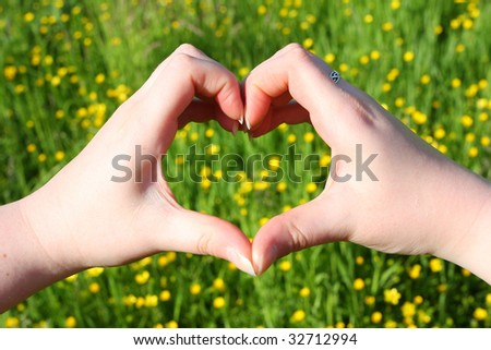 ecology starts by loving nature - stock photo