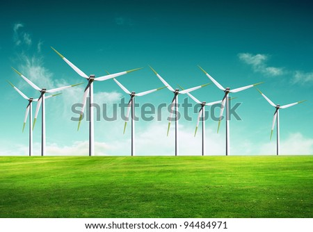 Ecology - Wind of change - stock photo