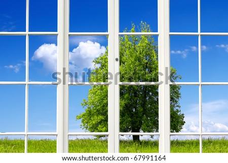 Ecology Window - stock photo