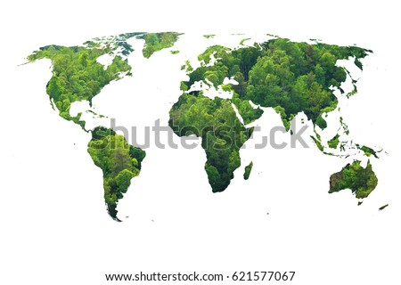 Ecology world map green forest design foto de stock libre de ecology world map green forest design gumiabroncs Choice Image