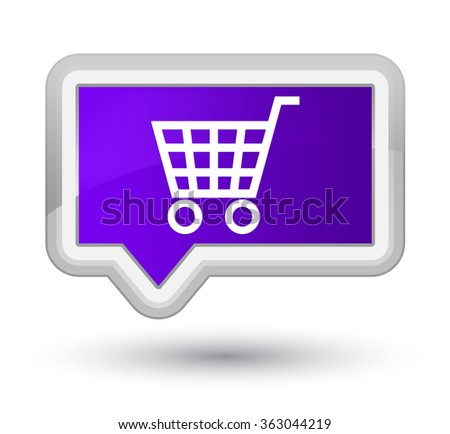 Ecommerce icon purple banner button