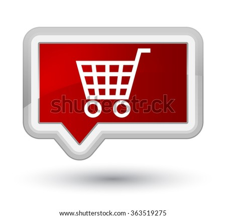 Ecommerce icon red banner button