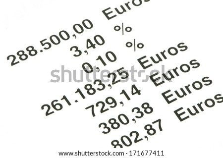 economic accounts on a white background