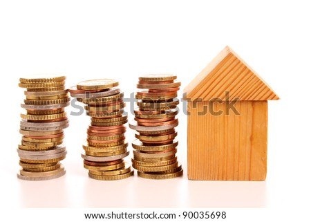 Economic and dept crisis affecting the price of houses - stock photo
