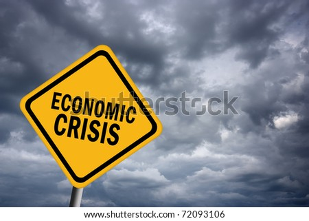 Economic crisis sign - stock photo