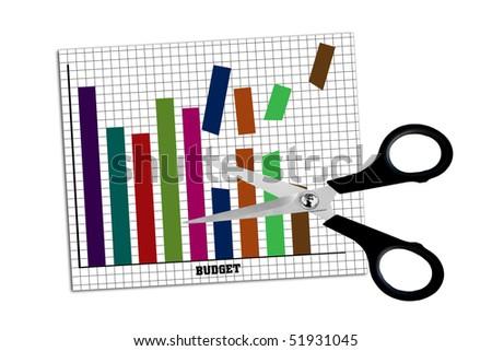 Economic cuts - stock photo