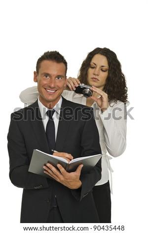 economic espionage - stock photo