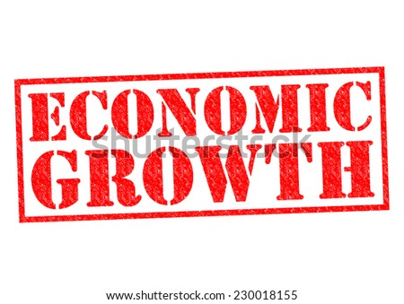 ECONOMIC GROWTH red Rubber Stamp over a white background. - stock photo