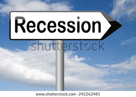 economic recession crisis bank and stock crash in economy and financial bank recession market crash sign  - stock photo