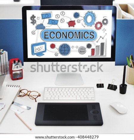 Economics Business Costs Finance Accounting Concept - stock photo