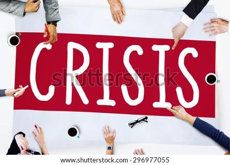 Economics Financial Crisis Risk Strategy Concept - stock photo