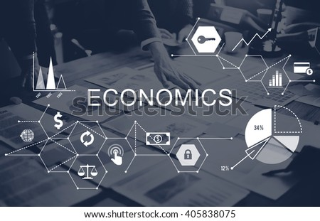 Economics Investment Profit Revenue Savings Concept - stock photo