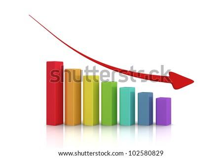 Economy crisis chart - stock photo