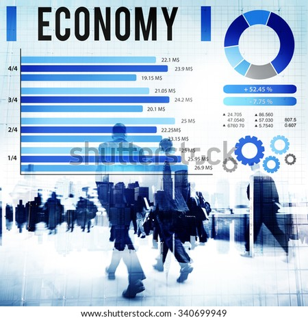 Economy Financial Money Currency Concept - stock photo