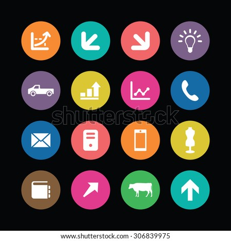 economy icons universal set for web and mobile