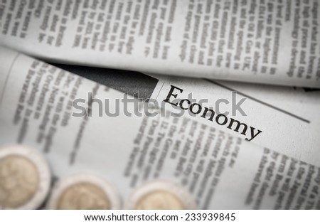 economy issue on newspaper
