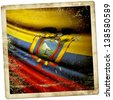 Ecuador grunge sticker - stock photo