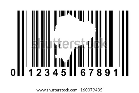 Ecuador shopping bar code isolated on white background.