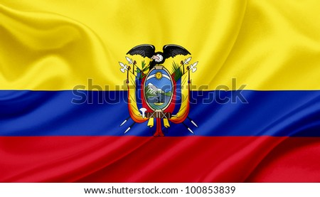 Ecuador waving flag - stock photo
