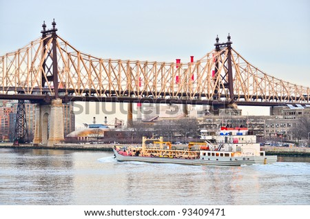 Ed Koch Queensboro Bridge, New York - stock photo
