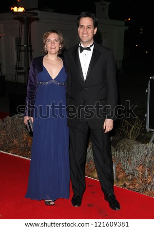 Ed Miliband and wife Justine arriving for The Sun Military Awards, at The Imperial War Museum, London. 06/12/2012 Picture by: Alexandra Glen
