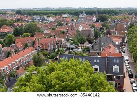 Edam village near Amsterdam in North Holland - stock photo