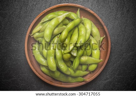 EDAMAME japanese food Soybean dish - stock photo