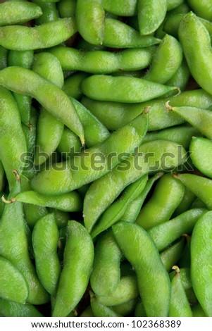 Edamame soy beans background - stock photo