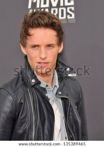 Eddie Redmayne at the 2013 MTV Movie Awards at Sony Studios, Culver City. April 14, 2013  Los Angeles, CA Picture: Paul Smith - stock photo