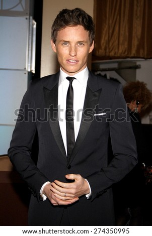 Eddie Redmayne at the 19th Annual Art Directors Guild Excellence In Production Design Awards held at the Beverly Hilton Hotel in Beverly Hills on January 31, 2015.  - stock photo