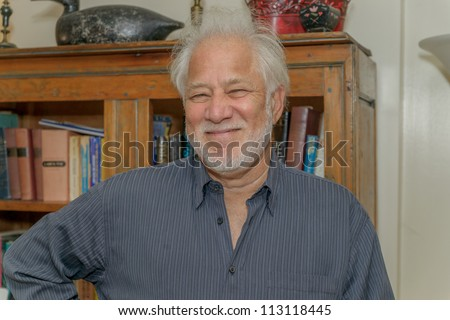 EDEN MILLS, ON - SEPTEMBER 16:  Internationally acclaimed writer,Michael Ondaatje, prepares to read  from a recent book at the annual Writers Festival in Eden Mills, Ontario on September 16, 2012. - stock photo