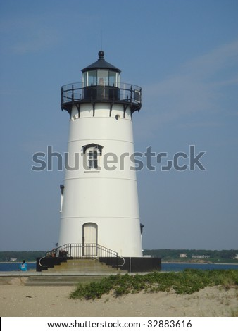 Edgartown lighthouse Marthas Vineyard Massachusetts - stock photo