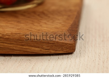 Edge detail on a unique cutting board