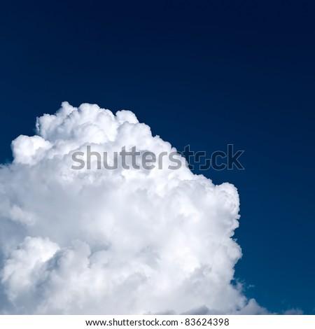 Edge of a stylized big white cloud - stock photo