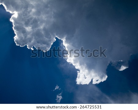 edge of clouds - stock photo