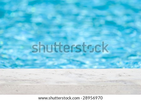 Edge of pool - stock photo