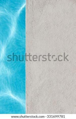 Edge of swimming pool. Nobody - stock photo
