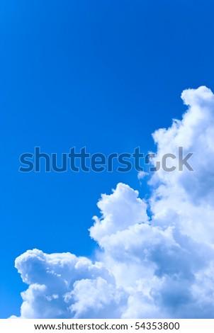 Edge of the big cloud - stock photo
