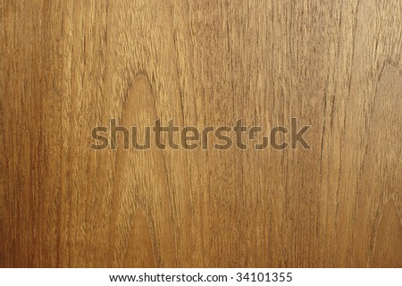 Edge to edge teak wood texture. Slight side light to highlight contours. - stock photo