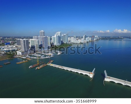 Edgewater Miami aerial photo - stock photo
