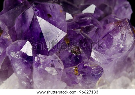 edgy amethyst macro - stock photo