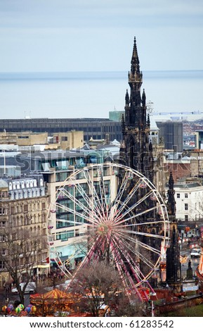 Edinburgh. Ferris Wheel - stock photo