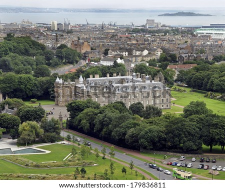 EDINBURGH, GREAT BRITAIN - AUGUST 14: Holyrood Palace, August 14, 2012 in Edinburgh, Scotland, Great Britain. - stock photo
