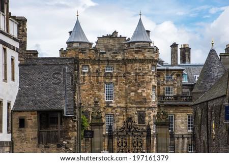 Edinburgh, Palace of Holyroodhouse, Scotland, UK  - stock photo